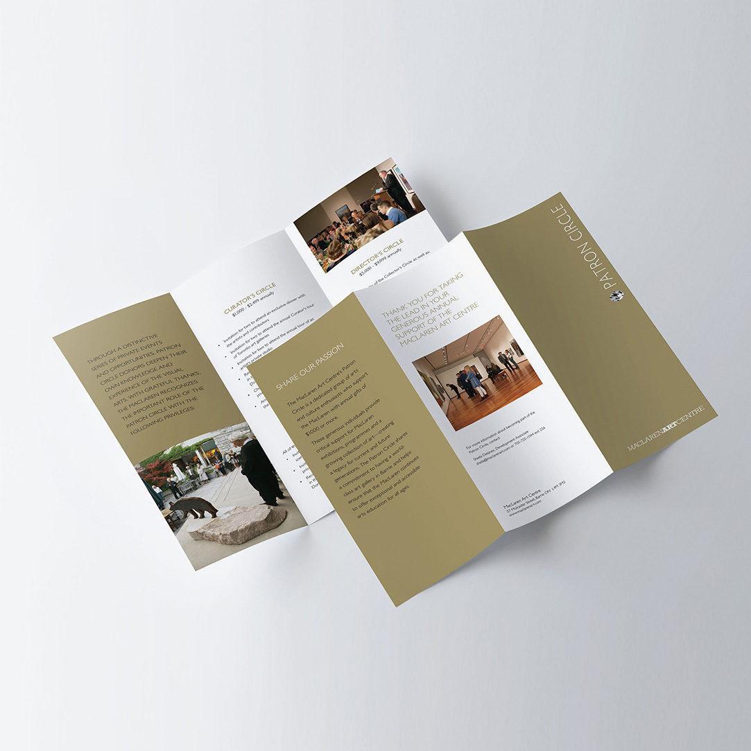MacLaren Art Centre – Patron's Circle brochure